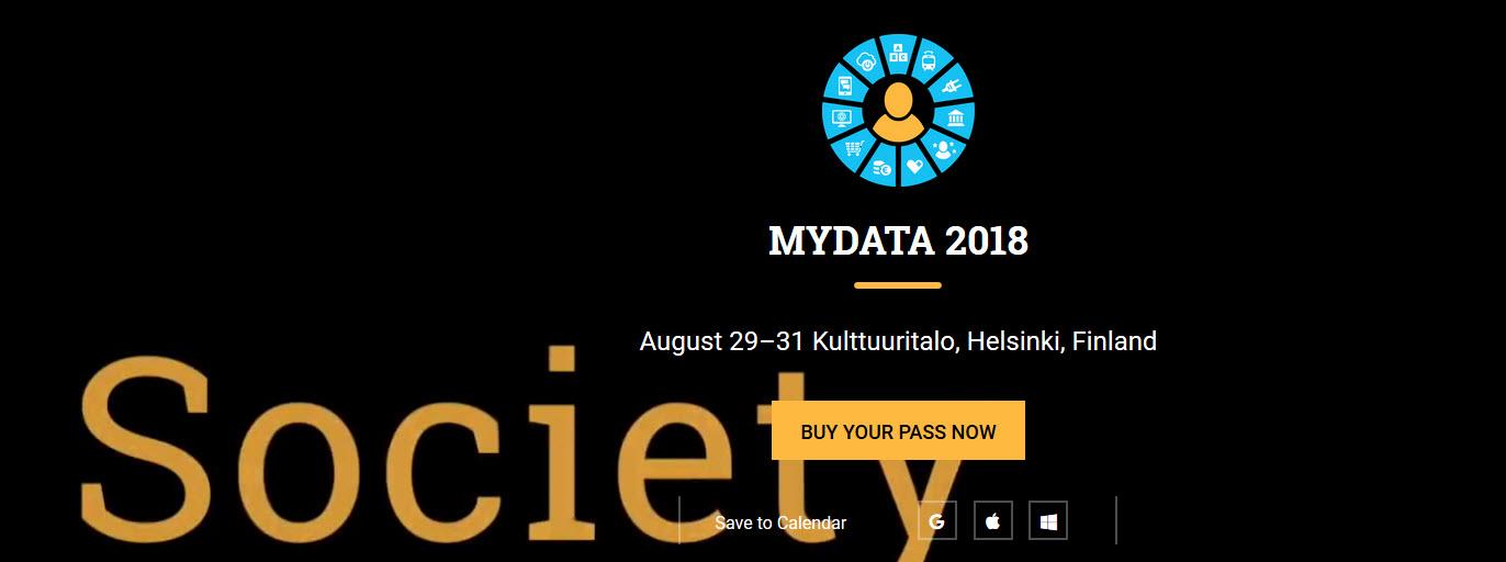 MyData 2018 – tapahtuma ja MyData-julistus