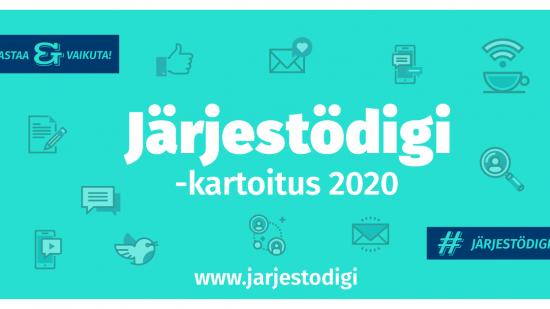 Järjestödigi 2020 -kartoitus – Digiä ja viestintää suomalaisissa järjestöissä
